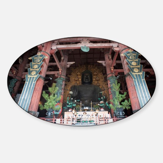 Daibutsu of Todai-ji Sticker (Oval)