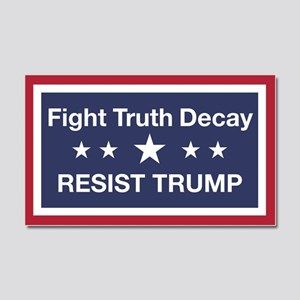 Fight Truth Decay Car Magnet 20 x 12