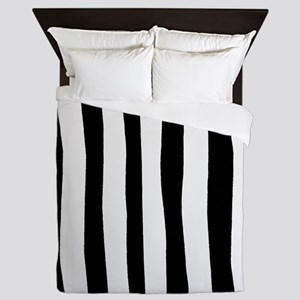 Funny black and white stripes Queen Duvet