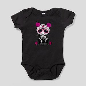 Cute Pink Day of the Dead Kitten Cat Baby Bodysuit