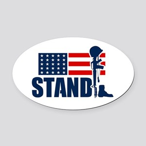 STAND Oval Car Magnet