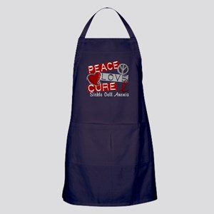 Sickle Cell Anemia PeaceLoveCure1 Apron (dark)