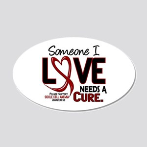 Sickle Cell Anemia NeedsaCur 20x12 Oval Wall Decal