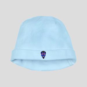 Sugar Skull - Blue Baby Hat