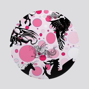 Fantasy in Pink Ornament (Round)