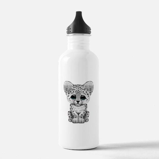 Cute Baby Snow Leopard Water Bottle