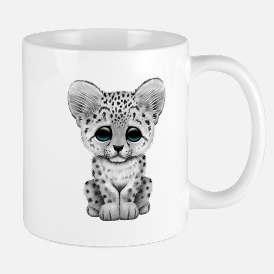 Cute Baby Snow Leopard Cub Mugs