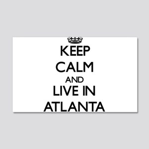 Keep Calm and live in Atlanta Wall Decal