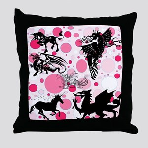 Fantasy in Pink Throw Pillow