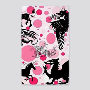 Fantasy in Pink 3'x5' Area Rug