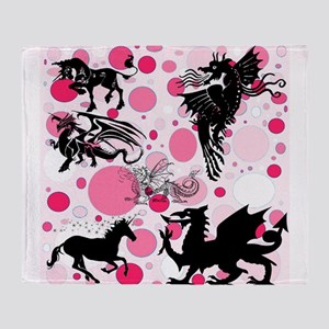 Fantasy in Pink Throw Blanket