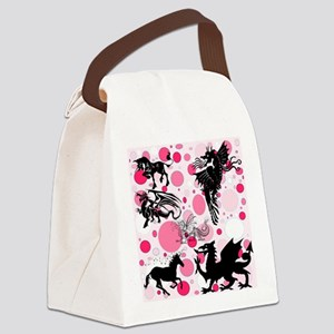 Fantasy in Pink Canvas Lunch Bag
