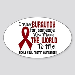 Sickle Cell Anemia MeansWorld2 Sticker (Oval)