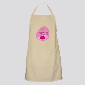 Im pregnant! Funny cute womb in pink Apron