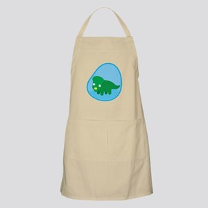 Little green dinosaur in the womb Apron