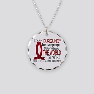 Sickle Cell Anemia MeansWorl Necklace Circle Charm