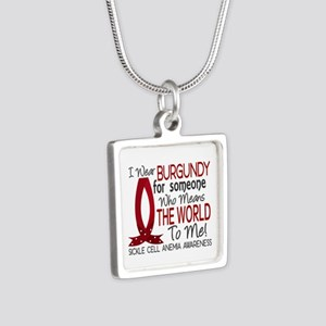 Sickle Cell Anemia MeansWo Silver Square Necklace