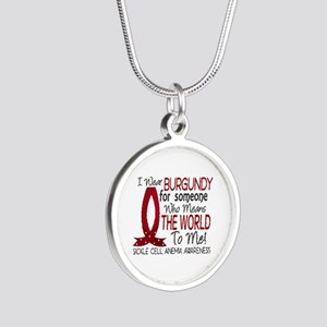 Sickle Cell Anemia MeansWorl Silver Round Necklace