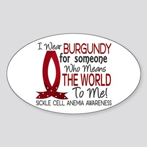 Sickle Cell Anemia MeansWorld1 Sticker (Oval)