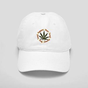 Rainbow Marijuana Leaf Cap