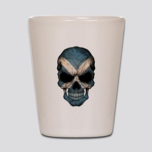 Scottish Flag Skull Shot Glass