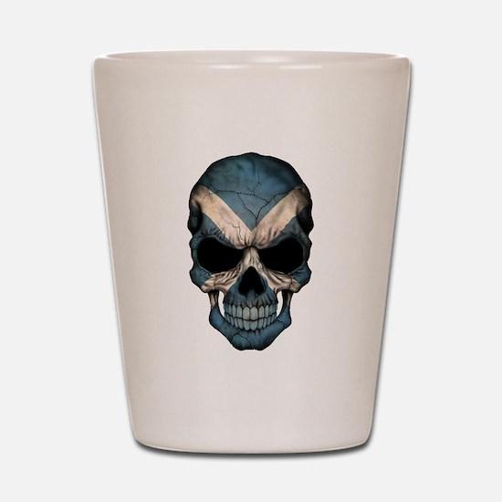 Scottish Flag Skull Shot Glass
