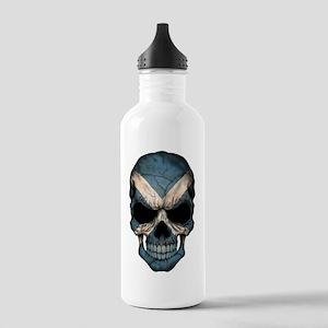 Scottish Flag Skull Stainless Water Bottle 1.0l