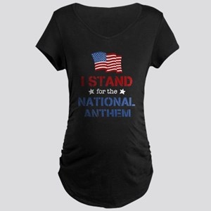 Stand For the Anthem Maternity Dark T-Shirt