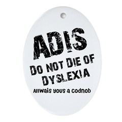 The AIDS Oval Ornament