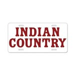 Indian Country Title Aluminum License Plate