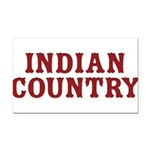Indian Country Title Rectangle Car Magnet