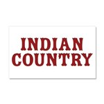 Indian Country Title Car Magnet 20 x 12