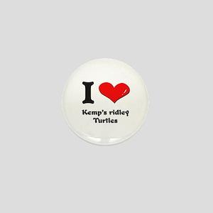 I love kemp's ridley turtles Mini Button