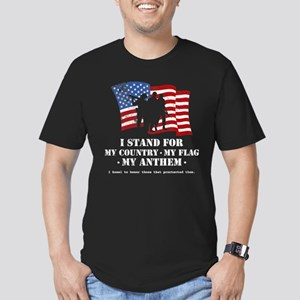 Stand For the Anthem 2 Men's Fitted T-Shirt (dark)
