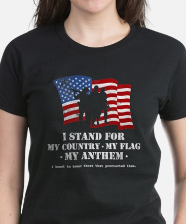 Stand For the Anthem 2 Women's Dark T-Shirt