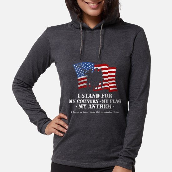 Stand For the Anthem 2 Womens Hooded Shirt