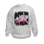 Orquidea Cattleya Trianae Kids Sweatshirt