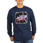 Orquidea Cattleya Trianae Long Sleeve Dark T-Shirt