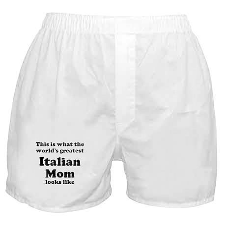 Italian mom Boxer Shorts