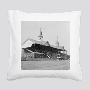 Churchill Downs, 1901 Square Canvas Pillow