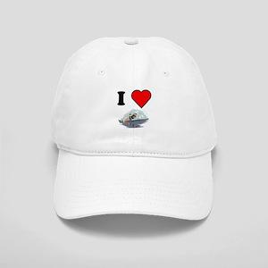 I Heart Waterskiing Baseball Cap