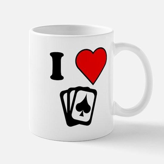 I Heart Poker Mugs