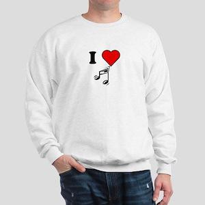 I Heart Music Sweatshirt