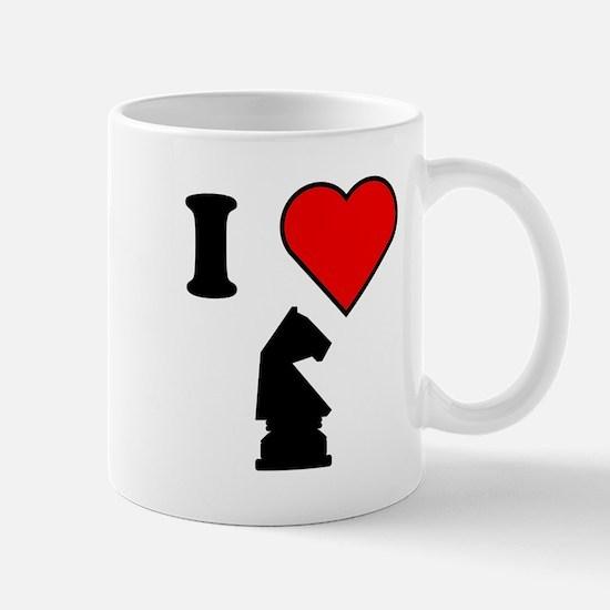 I Heart Chess Mugs