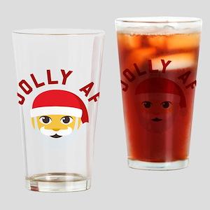 Emoji Jolly AF Drinking Glass