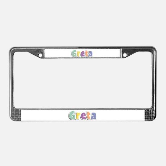 Greta Spring14 License Plate Frame
