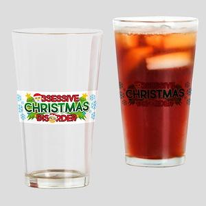 Emoji Obsessive Christmas Disorder Drinking Glass