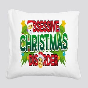 Emoji Obsessive Christmas Dis Square Canvas Pillow