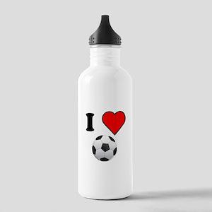 I Heart Soccer Water Bottle