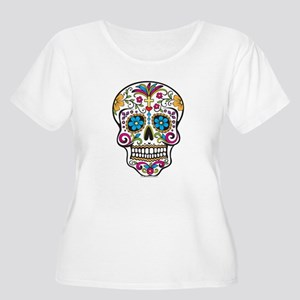 Day of The Dead Sugar Skull, Halloween Plus Size T